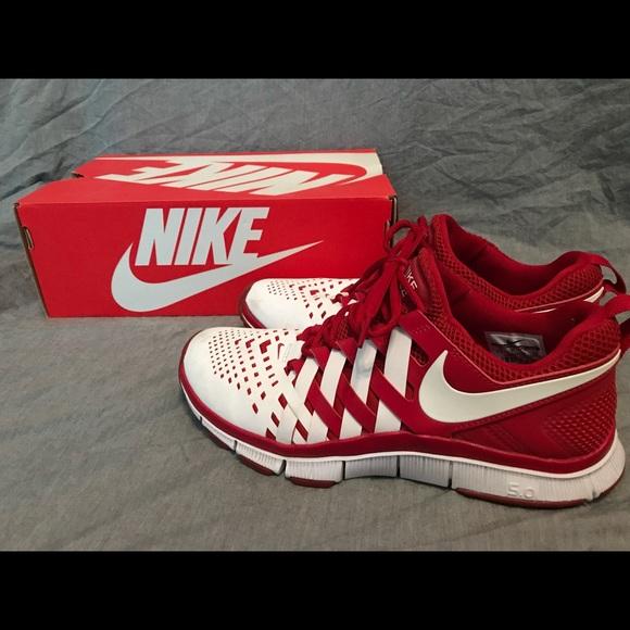 the best attitude 09c45 e1675 Nike Free Trainer 5.0 w/ Weave Red & White
